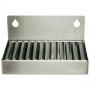 4 In stainless steel drip tray (2in back splash)